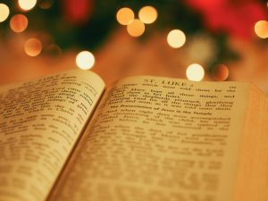 Photo of Christmas tree & Bible